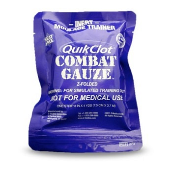 QuikClot Combat Z-Fold Gauze  Moulage Trainer