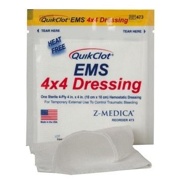 QuikClot EMS 4x4 Dressing
