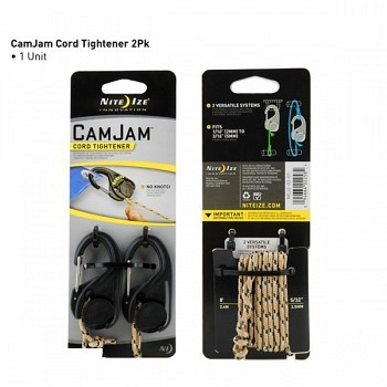 Nite Ize CamJam Cord Tightener 2 Pack with Rope