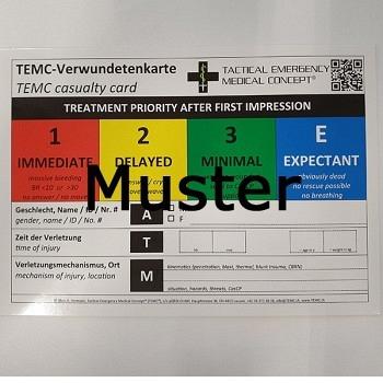 MANV -Verwundetenkarte